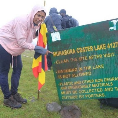 Tourism Board's CEO, Lilly Ajarova conquers Mt Muhabura; sets eyes on Elgon and Rwenzori