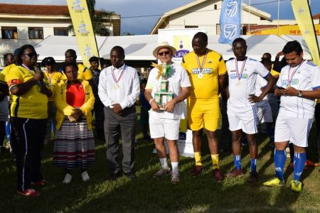 Sudhir Ruparelia captains taxpayers into a 1:0 win against URA in charity derby
