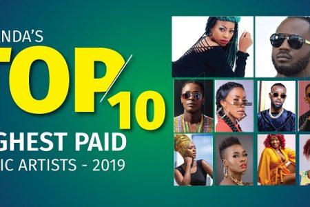 Uganda's 10 highest-paid music artists in 2019