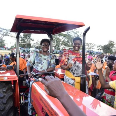 BOOSTING AGRICULTURE: Busoga farmers receive tractors: